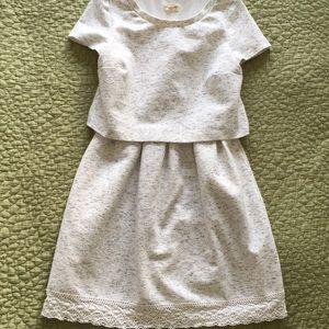 Mock Two Piece Mini Dress